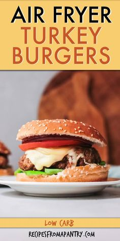 Looking for a Juicy healthy turkey burger recipe? Cook turkey burgers in the air fryer for a healthier alternative to traditional burgers - no need to heat up the grill! These southwest turkey burgers are flavorful and easy to customize so your whole family is satisfied. You can prep the patties ahead of time and cook from fresh or frozen. Click through to get this awesome Air Fryer Turkey Burgers recipe!! #airfryer #airfryerrecipes #turkeyburger #groundturkey #airfriedturkeyburgers Cooking Turkey Burgers, Ground Turkey Burgers, Grilled Turkey Burgers, Turkey Burger Recipes, Chicken Recipes, Air Fryer Dinner Recipes, Air Fryer Recipes Easy, Burger Mix, Air Frier Recipes