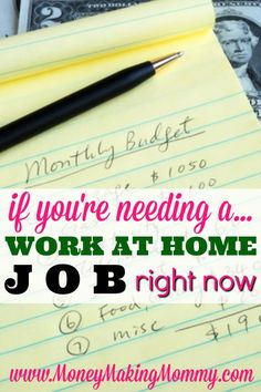 If YOU Need a Legitimate Work at Home Job Right NOW