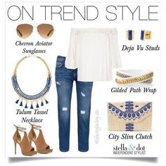 Of shoulder and fringe is #ontrend right now. Shop these looks now www.stelladot.fr/carpimarie #stelladotstyle #ootd #fringe #style
