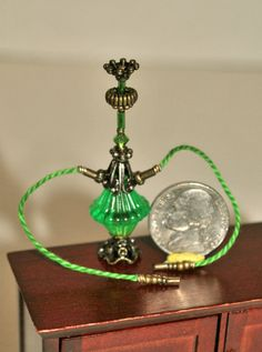 Dollhouse Miniature Hippie Hookah Green and by Purpose4Everything