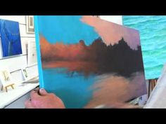 Sunset Painting - Gradation   Over The Shoulder with Mark Waller