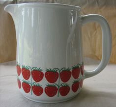 Vintage Arabia of Finland Pomona pitcher. Still searching...