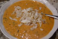 Tomato Basil Crab Bisque. This is a great base for a crab bisque. I used canned tomatoes that were already seasoned with garlic and olive oil, sold at HEB. I doubled the recipe and it came out just fine. The only thing I didn't use was the calamato. Easy, quick and delicious!