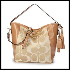 #coach #handbags StylishCoach Legacy In Signature Medium Khaki Shoulder Bags ANS Will Suit Your Style, Come To Purchase Now!