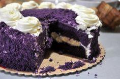 Ube Macapuno cake (Filipino) from Red Ribbon Bakery