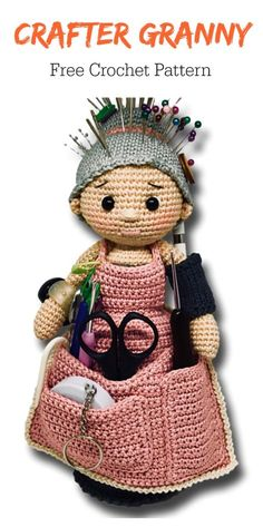 Crafter granny Organizer Free Crochet Pattern