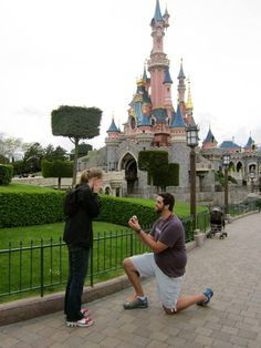 I guess Disneyland really is a place where dreams come true! #disneyland #paris #proposal
