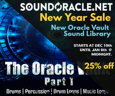 #SoundOracle Newest #SoundLibrary #OracleVault on sale for 25% OFF    Shop here! http://soundoracle.net/products/the-oracle-vault-pt-1?variant=30811949452