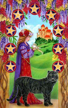 9 d'écus - The Star Tarot par Cathy McClelland