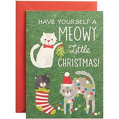 Meowy Christmas A6 Holiday Cards