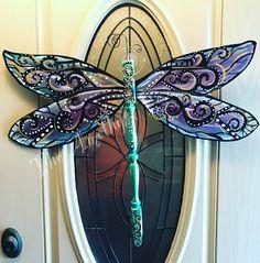 Fan Blade Dragonfly, Dragonfly Yard Art, Wood Butterfly, Butterfly Crafts, Monarch Butterfly, Wood Crafts, Fun Crafts, Arts And Crafts, Fan Blade Art