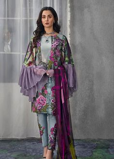 Asifa nabeel Lawn Master Replica 2019 Fabric: Lawn Printed Front Embroidered Neck Patch Embroidered Daman Patch Chiffon Dupatta Trouser Included With Embroidered Patch Beautiful Pakistani Dresses, Pakistani Formal Dresses, Nikkah Dress, Pakistani Dress Design, Pakistani Outfits, Pakistani Bridal, Indian Outfits, Designer Party Wear Dresses, Kurti Designs Party Wear