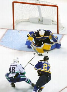 NHL Hockey Photos: Final statistics from the Vancouver vs. Louis game played on March 2017 Blues Nhl, Hockey Games, Vancouver Canucks, Espn, St Louis, Thursday, Period, Russia