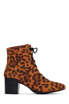 Mod-inspired leopard boots