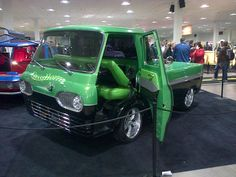 Front View of mid/engine/econoline@Megaspeed Custom Car Show 2013 in Toronto ON ca.