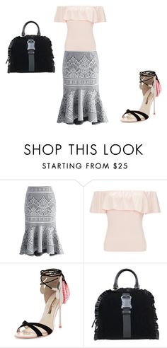 """""""Frilly Heaven"""" by summersnow-975 ❤ liked on Polyvore featuring Chicwish, Miss Selfridge, Sophia Webster and Christopher Kane"""