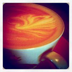 Swan Lake Look a Like on Latte Art.