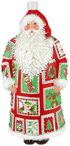 Patricia Breen Quilted Santa Red   2012 http://www.peachtreeplaceonline.com/