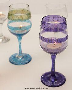 16 Useful DIY Ideas How To Decorate Wine Glass | Amazing Online Magazine