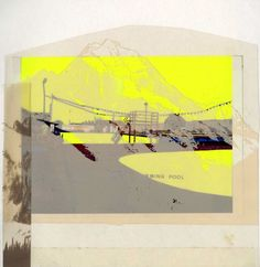 25 x 25 cm Screenprint on acetate and collage, 2011 ©Emily Moore   Printmaking, Screen Printing, Mixed Media, Collage, Digital, Prints, Inspiration, Art, Screen Printing Press