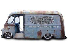 The Service Station Barber Shop Custom Rat Rods, Custom Vans, Custom Trucks, Bagged Trucks, Lowered Trucks, Vintage Vans, Vintage Trucks, International Pickup Truck, Old School Vans