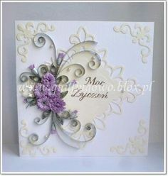 simply gorgeous card with quilling. So tell me again WHY I have not learned to do it yet????
