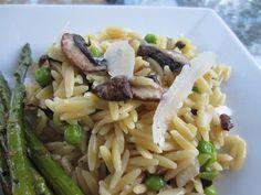 Little Mommy, Big Appetite: Mushroom and Sweet Pea Orzo