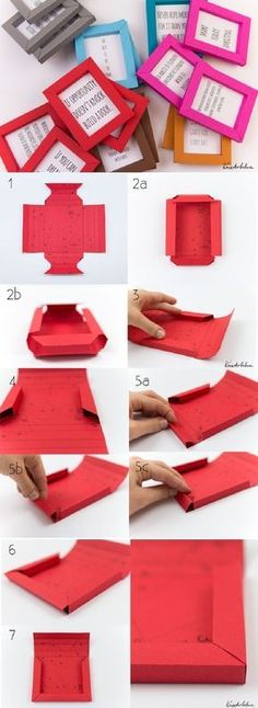 Origami is an art paper from Japan. This kind of art is already popular to many people who love to create something unique with paper. Origami also can be used to decorate your home. Diy Origami, Diy Design, Design Ideas, Making Gift Boxes, Paper Frames, Art Frames, Paper Boxes, Diy Paper Box, Frames Ideas