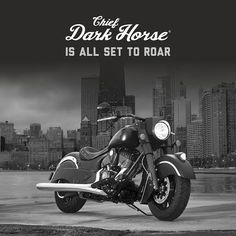 The Indian Chief Dark Horse, This roaring thunderstorm has been blacked out from war bonnet to rear fender.