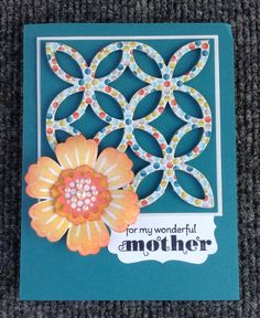 Mother's Day! Stampin'Up! Lattice die, Mixed Bunch & Delightful Dozen stamp sets.