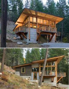 Fire-Inspired: Wintergreen Cabin by Balance Associates in Methow Valley, Washington