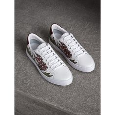 68754a07a Beasts Print Leather Trainers Leather Trainers
