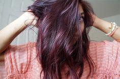 Love this purple tint hair!