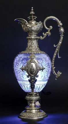 Vintage engraved decanter.
