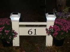 E-Z Install Address Signs with Solar Lights.. Free Shipping! No digging and no cement. Kit includes 2 No-Dig anchors and blank vinyl address sign. This product is made of PVC. The 4x4 Posts are 18 Tall. and It is 24 wide. All you have to do is add your name or address numbers. Installs in minutes!!  Add visibility and curb appeal to your driveway. The Address Signs are made of white PVC . They are easy to install. No Digging and No Cement!!. Each Sign kit comes with 2 NO DIG Post Anchors…