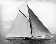 Valkyrie  down wind in light air  with a big spread  1890's