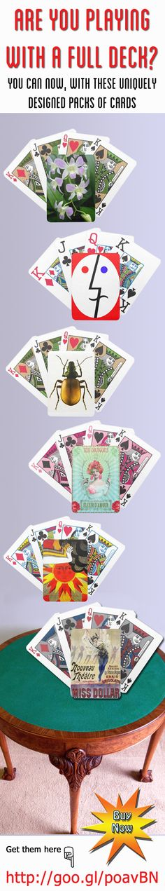 Are you playing with a full deck? You can now with these uniquely designed packs of cards. http://www.zazzle.com/thedigitalconsultant+playingcards #playingcards #gaming #gifts