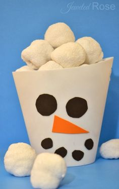 Indoor Snowball Fight Kit- my whole family has had so much fun with this easy to make game/toy