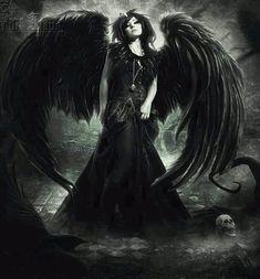 Dark Goth Gothic fallen angel angels fantasy