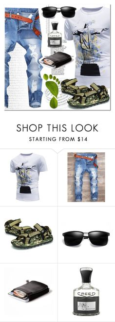 """""""T-shirt"""" by ilona-828 ❤ liked on Polyvore featuring Parasol, Creed, men's fashion and menswear"""