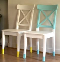 Take a Seat! 20 DIY Colorful Chair Projects is part of Diy chair - Take a Seat! Check out these tips, tricks and ideas for your next furniture flip! Colorful chairs lend a cheery Chair Makeover, Furniture Makeover, Refurbished Furniture, Painted Furniture, Furniture Making, Diy Furniture, Chaise Diy, Old Chairs, Painted Chairs