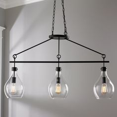 Check out Oiled Bronze Linear Chandelier - 3-Light from Shades of Light