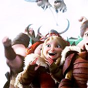 Astrid looks like a fangirl after HTTYD 2. i was so excited that i was in tears though. XD