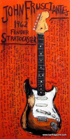 John Frusciante 1962 Fender Stratocaster by KarlHaglundArt on Etsy, $20.00
