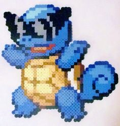 Ash's Squirtle perler bead