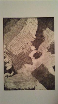 Texture Print(Etching) made by Jennifer LeBlanc at Lakehead University(2009-2010).