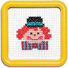 Amazon.com: Easy Street Little Folks Happy Circus Clown Counted Cross-Stitch Kit