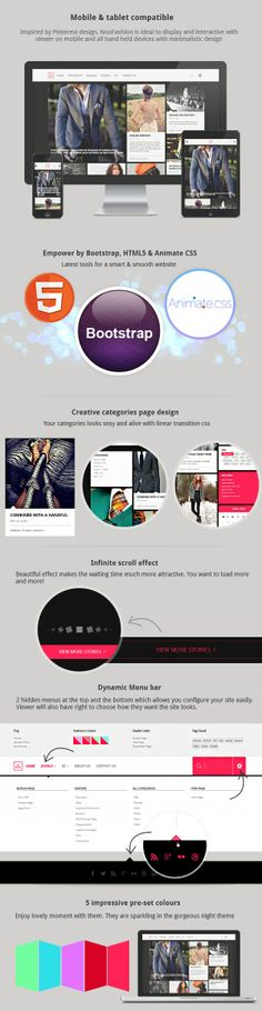 Noo Fashion template features