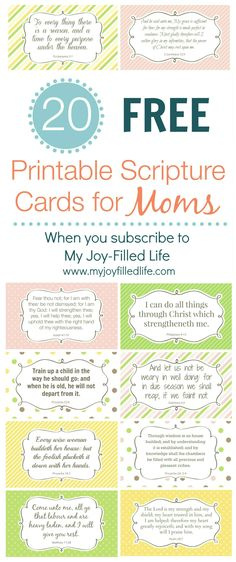FREE Printable Scripture Cards for Moms