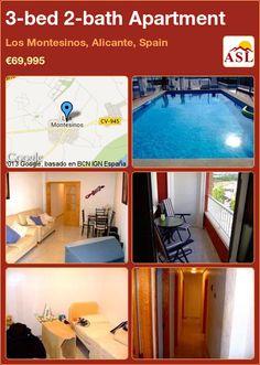 3-bed 2-bath Apartment in Los Montesinos, Alicante, Spain ►€69,995 #PropertyForSaleInSpain